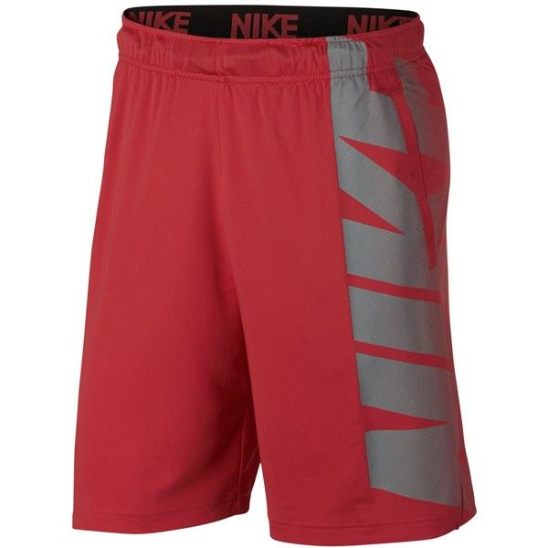 "Nike Men's 9"" Dry Logo Training Shorts ($30) ❤ liked on Polyvore featuring men's fashion, men's clothing, men's activewear, men's activewear shorts, track red, mens activewear shorts and mens activewear"