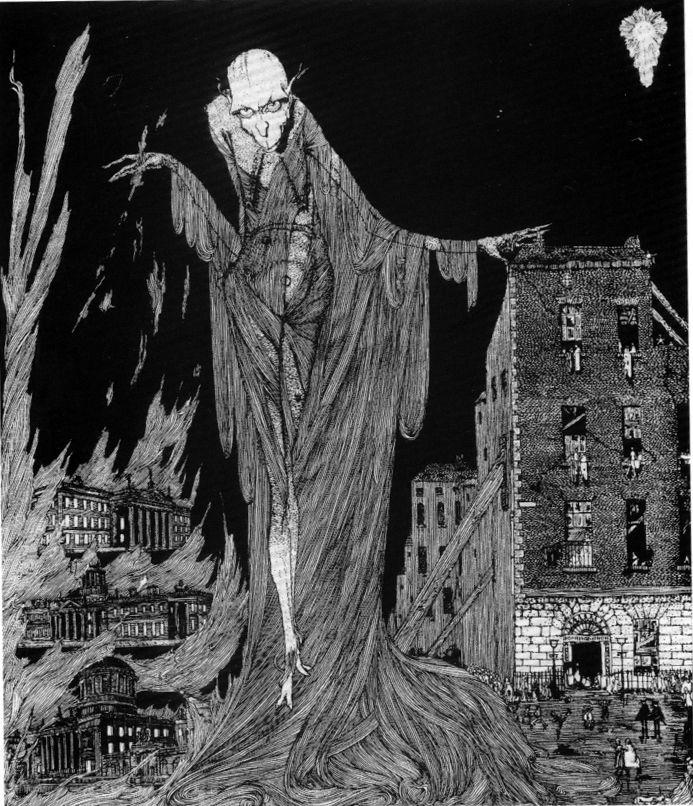 """Harry Clarke Illustrations for Poe's """"The Raven""""."""