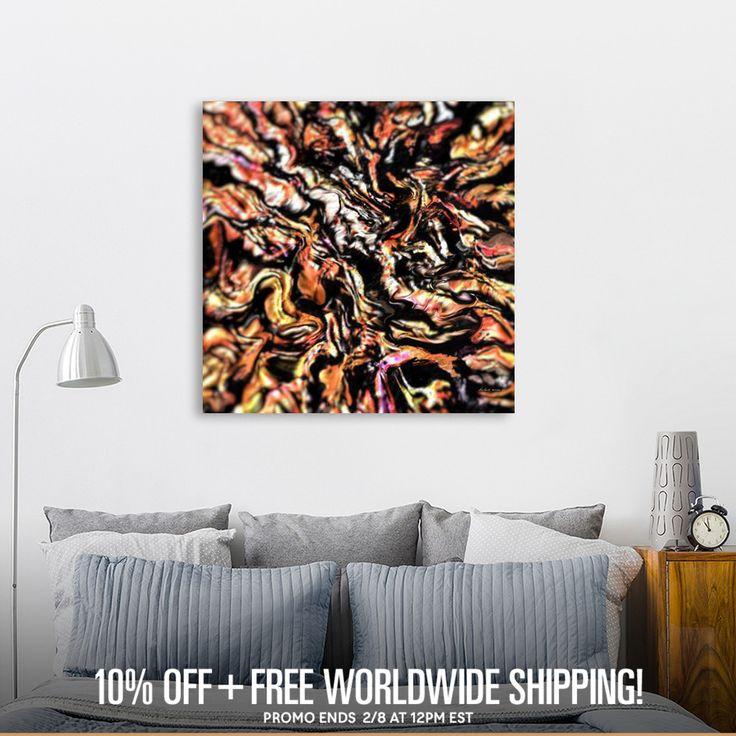 Découvrez «rust colored dried leaves on sidewalk», Édition Limitée Oeuvres sur Toile par Richard Raveen Chester - À partir de 75€ - Curioos