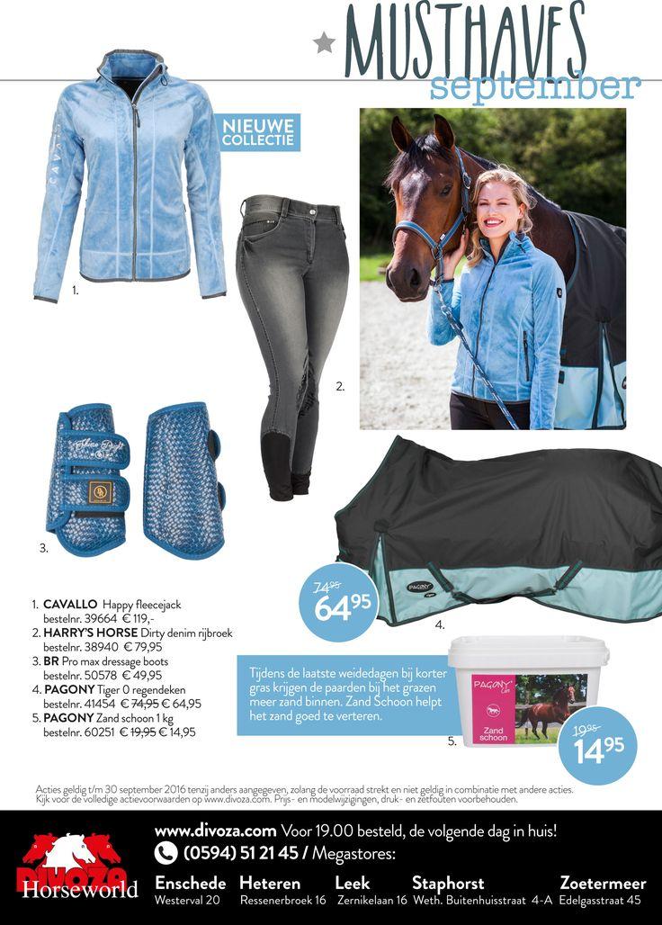Nieuwe #divoza #musthaves van de maand #september. #ruitersport #ruiter #rider #equestrian #divozahorseworld #horseriding #horse #paardrijden #paard #fashion #mode #equestrianlifestyle #blauw #blue #pagony #br #harryshorse #cavallo