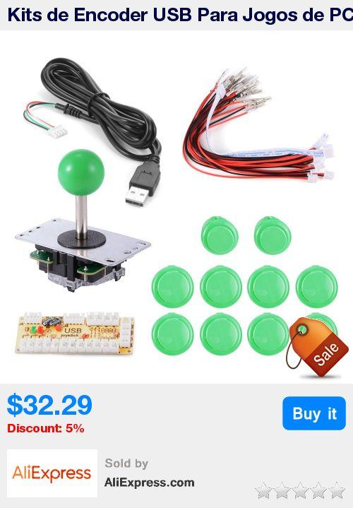 Kits de Encoder USB Para Jogos de PC Original Sanwa 8 Maneiras KOF Joystick Pacotes + 10 Push Buttons Mame/Green * Pub Date: 08:02 Oct 14 2017