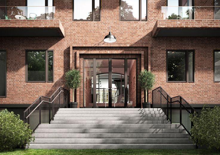 Oscar Properties :Ateljéhuset  #oscarproperties  staircases, design, architecture, interior, paintings, decorations, hallway