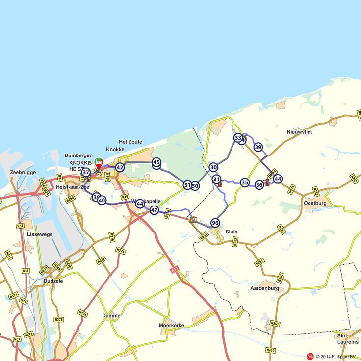 Fietsroute: Knokke-Heist en natuurpark het Zwin  (http://www.route.nl/fietsroutes/145434/Knokke-Heist-en-natuurpark-het-Zwin/)
