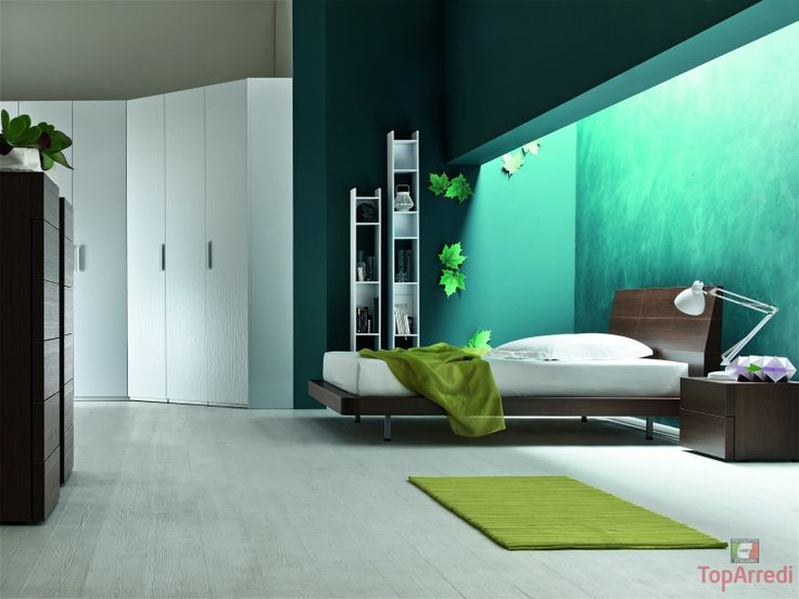 Modern, well-lightened, squared bedroom