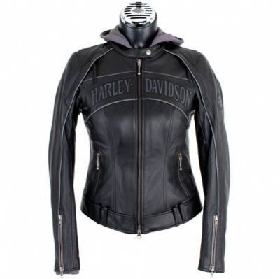 harley davidson clothing for women | … Skull 3-in-1 Leather Jacket – Harley Davidson Womens, 98152-09VW/000L