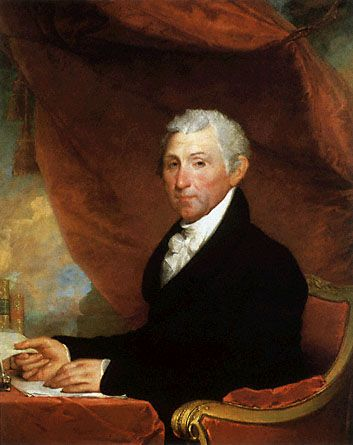 James Monroe (1758-1831), fifth President of the United States (1817–1825).
