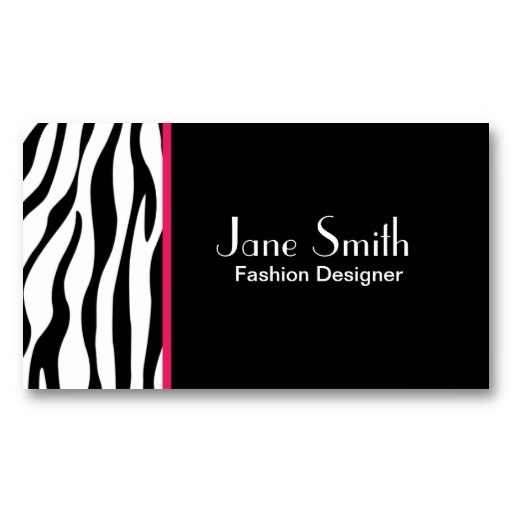 Zebra Print Fashion Designer Hair Stylist Salon Business Card Template #businesscards #art #zazzle