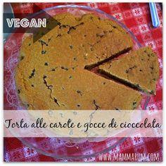 Torta vegan alle carote con gocce di cioccolata http://www.mammarum.com/2015/01/torta-vegan-alle-carote-con-gocce-di.html