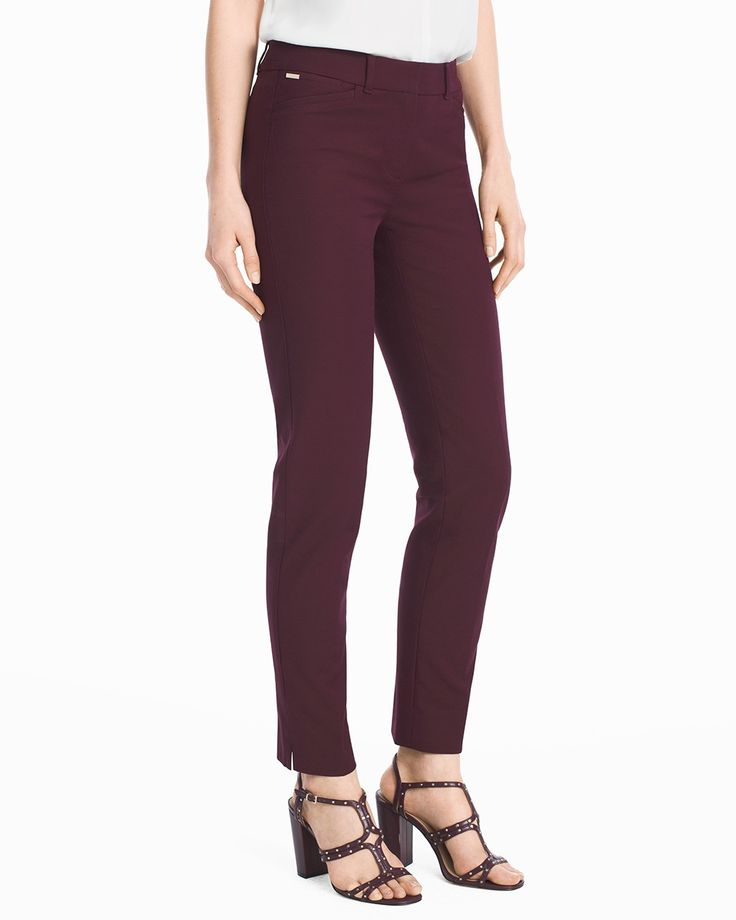 Women's Body-Defining Ankle-Grazing Pants by WHBM