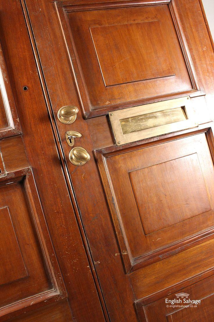 Salvaged Large Mahogany Bank Double Doors. Image Number 45 Of Reclaimed Doors Newcastle . & Reclamation Doors Surrey u0026 We Have Over 1000 Original Door In ... pezcame.com