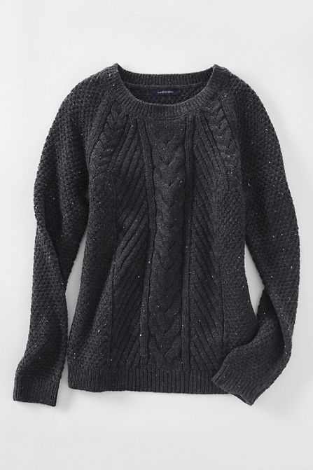 Lands' End Women's Lofty Blend Cable Sweater - Fall trends