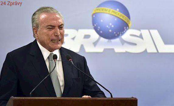 Brazilský prezident byl obviněn z maření vyšetřování korupční kauzy
