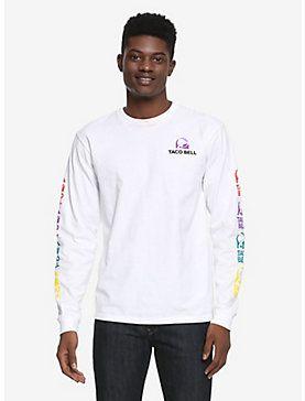 3b3376c5b Taco Bell Long Sleeve T-Shirt - BoxLunch Exclusive, WHITE | Wish ...
