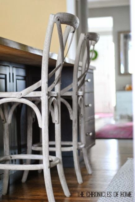 Curvy bentwood kitchen counter stools, Thonet-inspired