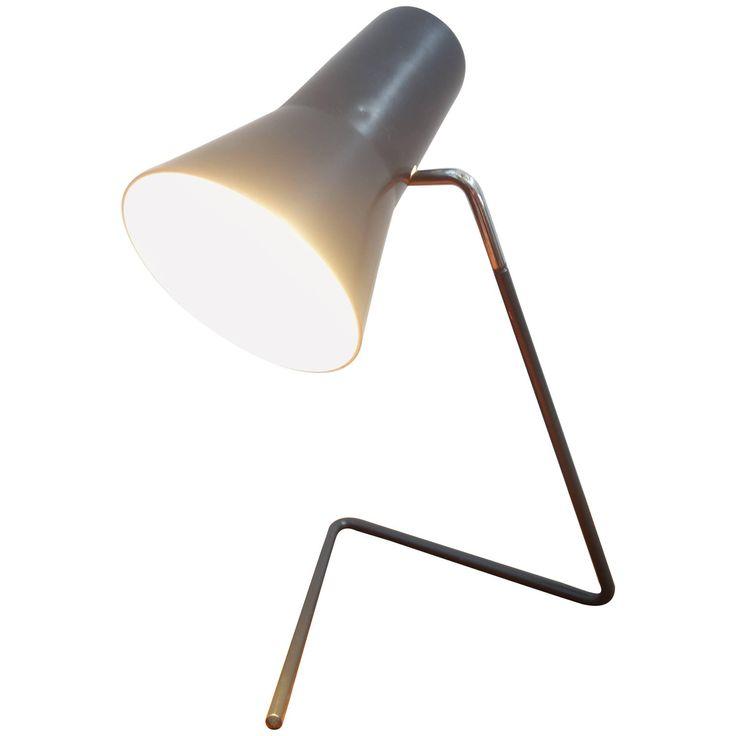 Grey Desk Lamp Model 21616 by Drupol Designer Josef Hurka, 1960s