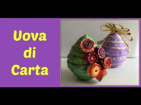 Uova di Pasqua di Carta (Pasqua e RICICLO) -Arte per Te - YouTube