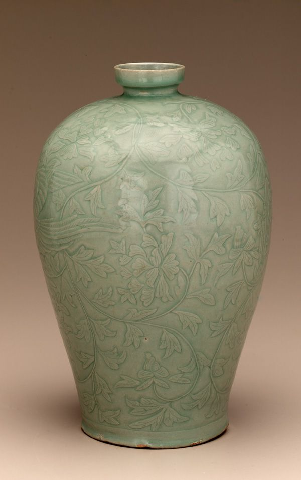 Wine bottle  mid 12th century  Unidentified, Korean  Koryo period  Stoneware with celadon glaze #sculpture