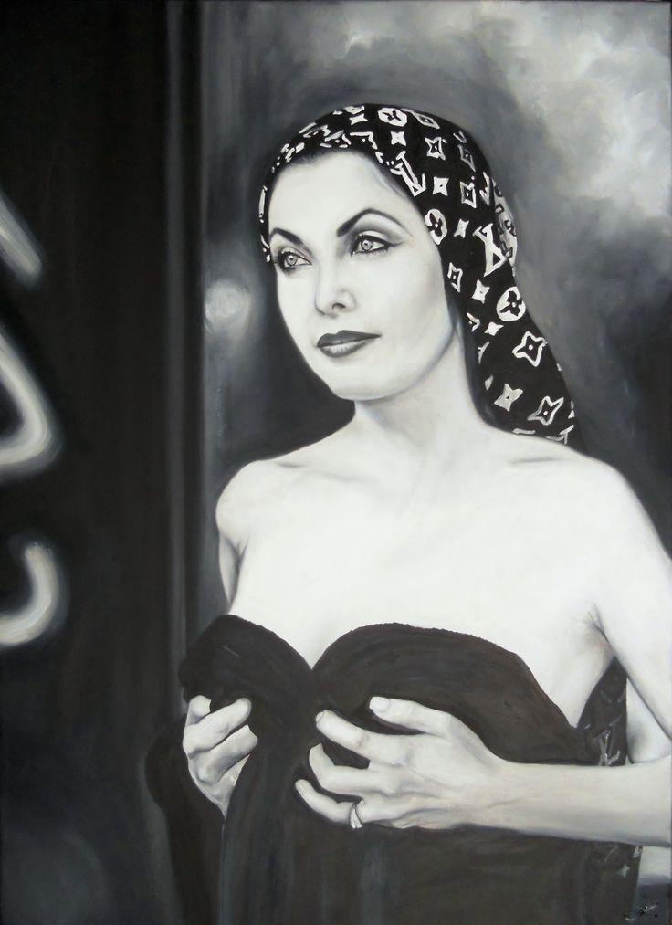 Portrét na zakázku Olej na plátně 70x50cm