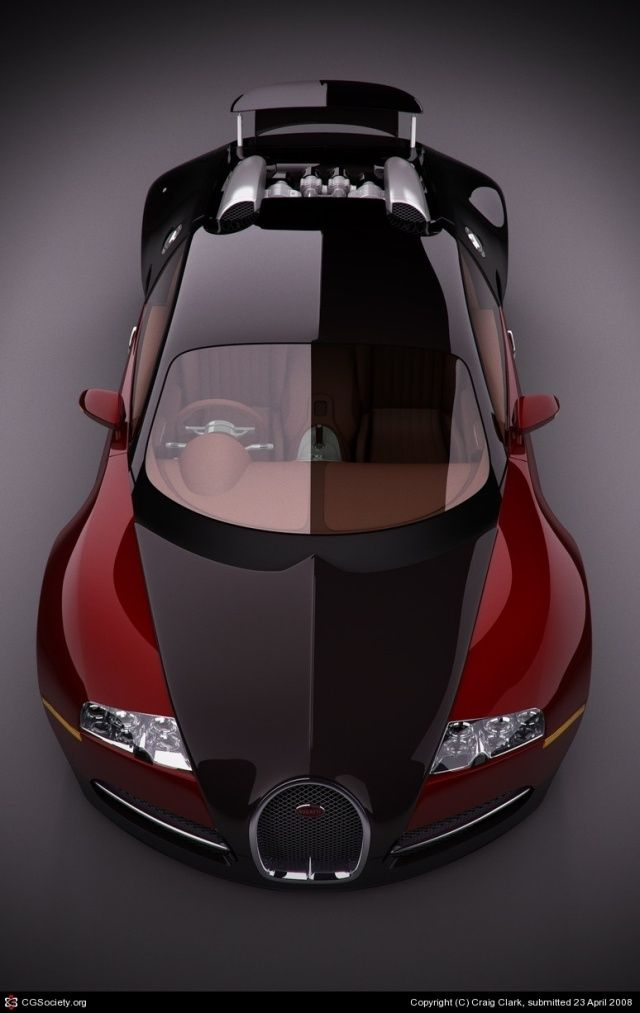 Bugatti Veyron EB16.4 Picture (3d, automotive, bugatti, veyron, sport car) I like the shade of red for this car.