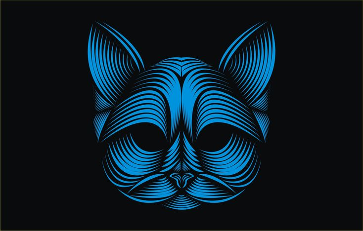 Amazing Line art from the face of your favorite animal , your favorite ...