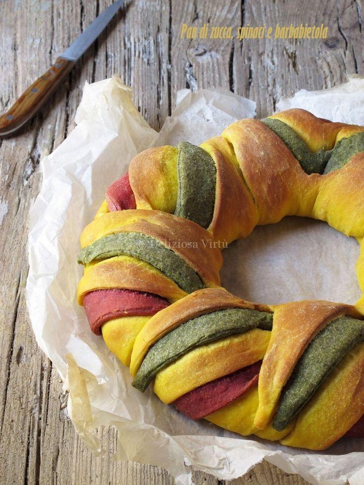 Pumpkin bread spinach and beets / Pan di zucca spinaci e barbabietole #ricetta #recipes  #recipe #italianrecipe