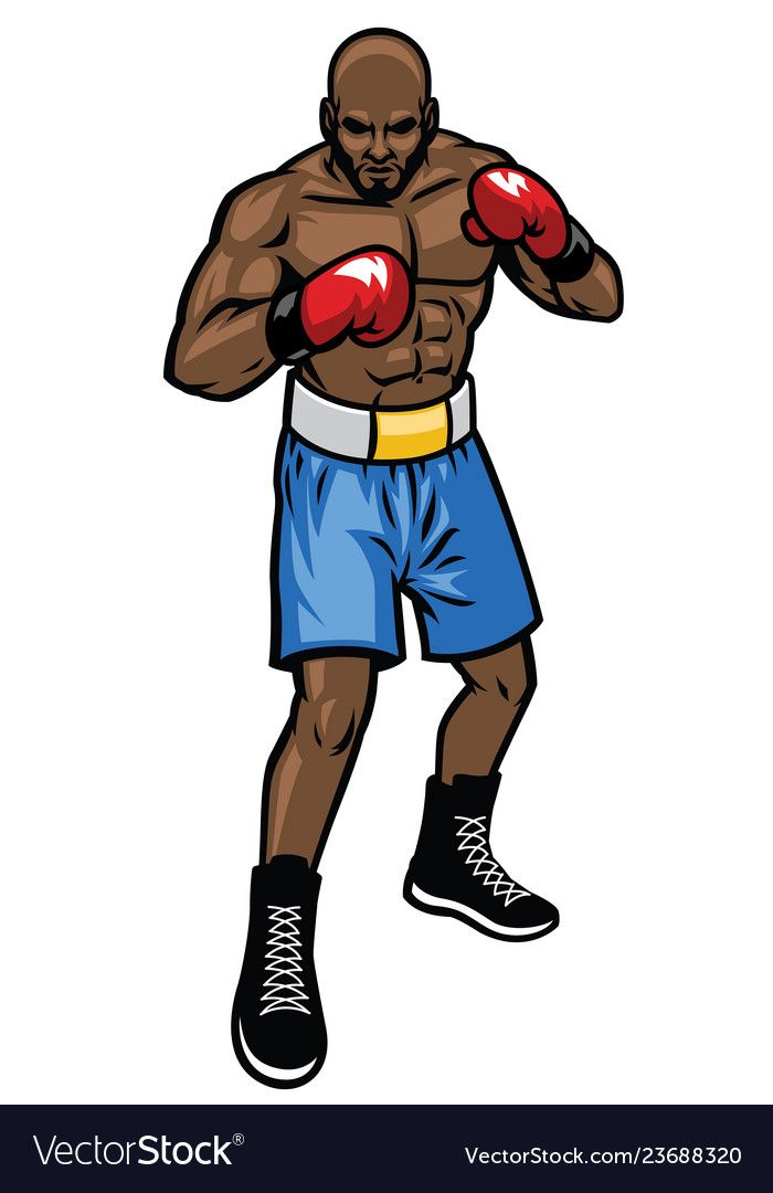 Boxing Fighter Stance Vector Image On Vectorstock Fighter Vector Images Vector