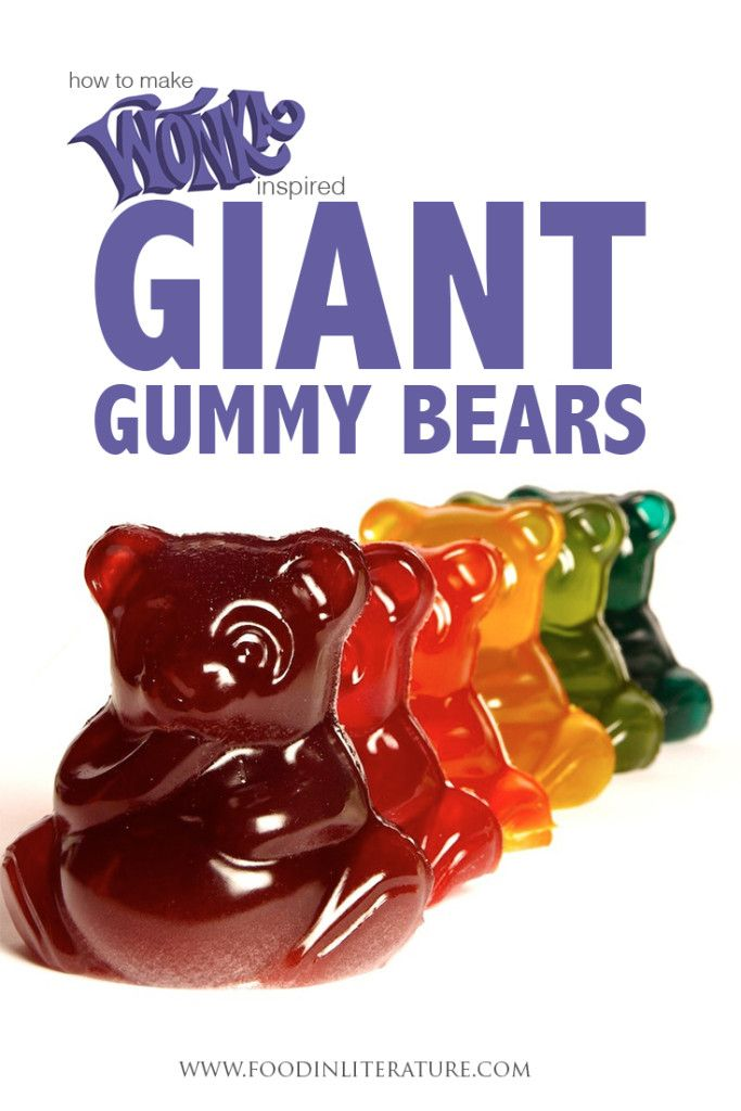 Make your own Wonka inspired giant gummy bears! It takes only 4 ingredients,  it's