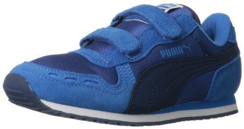PUMA Cabana Racer Mesh V Kids Sneaker (Toddler/Little Kid),Monaco Blue/French Blue/Insignia Blue,10 M US Toddler. Rubber sole. Synthetic. Colors peek through the toe, coordinating with the logo and outsole in this cute PUMA sneaker. Classic, retro style with grippy rubber outsole. Nylon mesh upper with suede overlays. Item dimensions: 35 - 100 - 100 - 100 - hundredths-inches. Hook-and-loop closure for a snug fit.