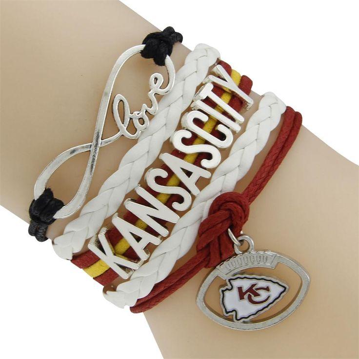 KC Chiefs Infinity Bracelet