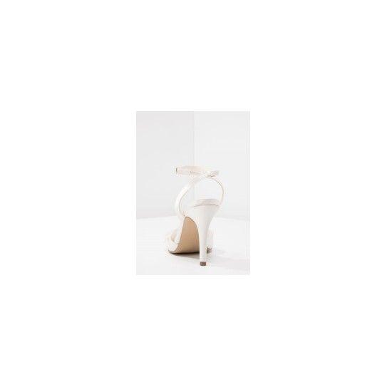 Chaussures de Mariée Ivoire Détail de jolies petites fleurs - Strass satin - sandales Talons  - Accessoires Mariage Cérémonie