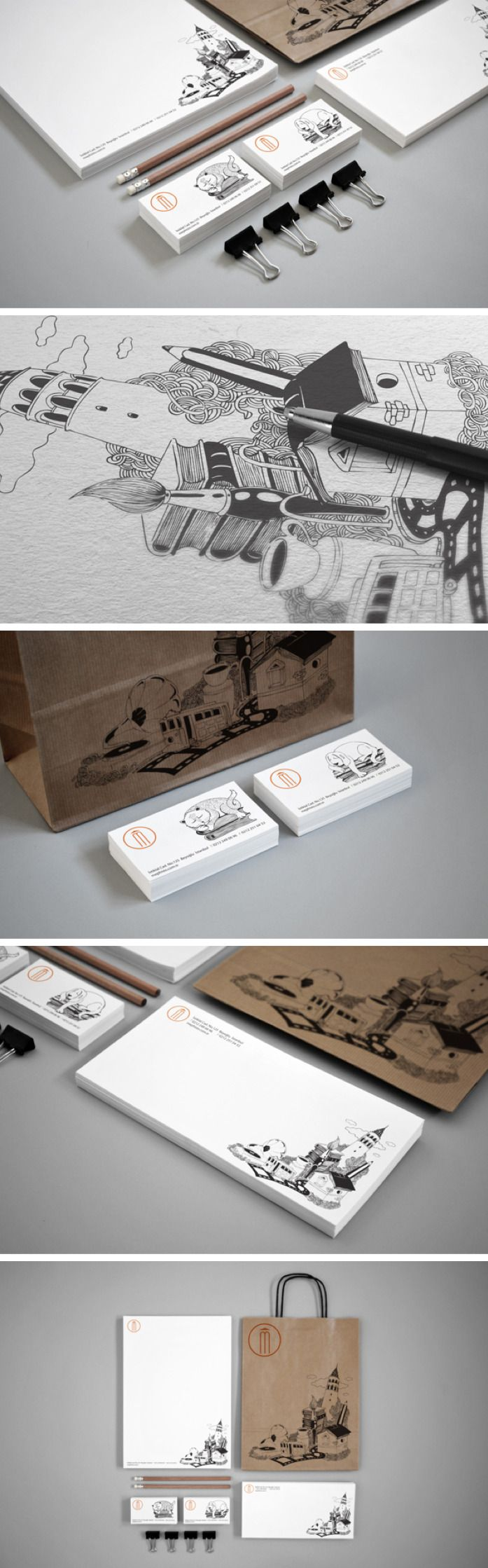 Traditional illustration identity packaging PD