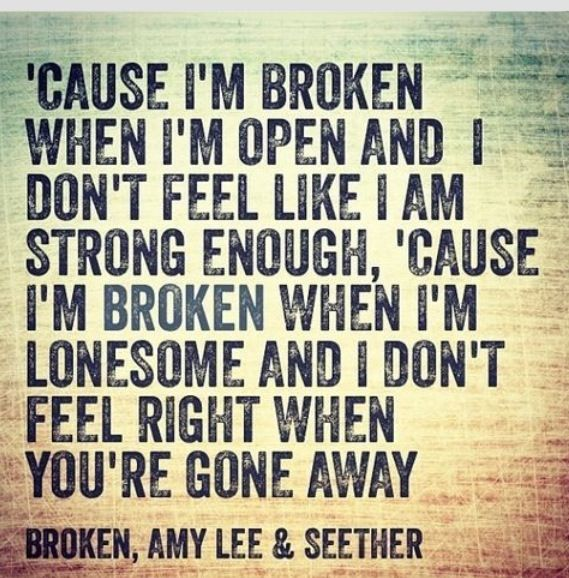 Absolutely LOVE this song!!! Broken by Seether <3
