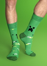 """Minecraft socks! (I should probably create a separate board for """"Geek Style"""".)"""
