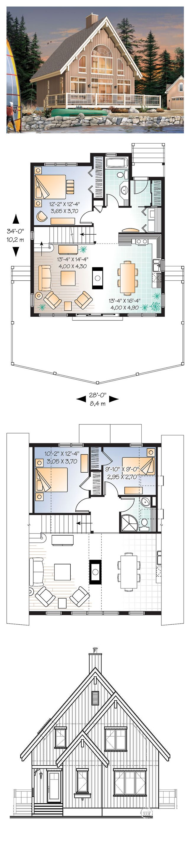 16 best lakefront home plans images on pinterest country for Lakefront home floor plans