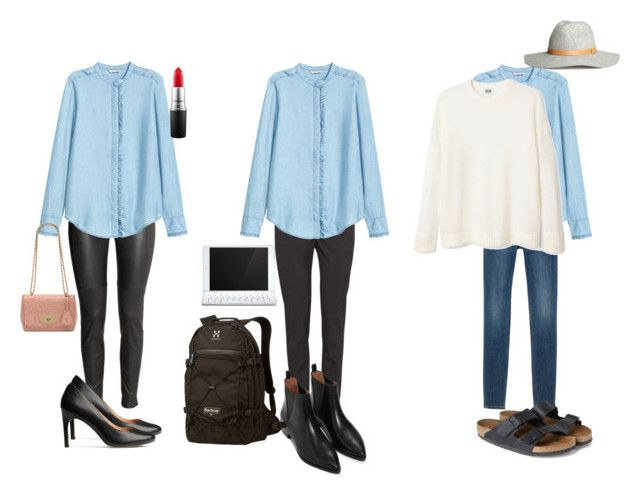 Same shirt, three ways (going out, school and weekends) by juliegodsknielsen on Polyvore featuring H&M, Monki, Mulberry, Logitech and MAC Cosmetics