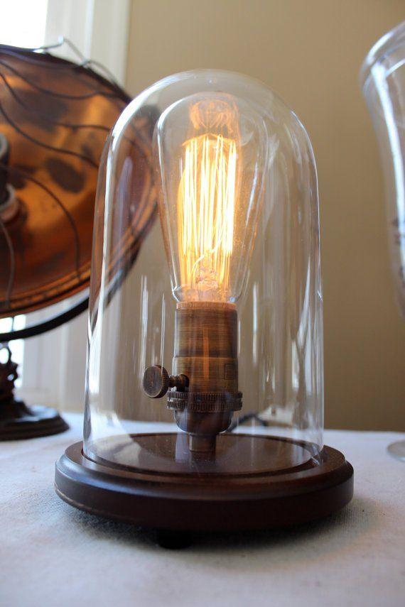 Bell Jar Table Lamp Small Jar Table Lamp Lamp Table Lamp