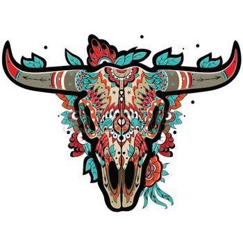 mexicain: Buffalo crâne de sucre mexicain. Crâne de Buffalo. Vector illustration Illustration