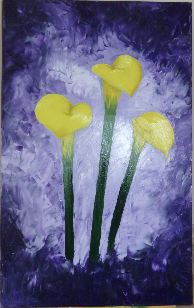 "Oil on black canvas ""Calla"""