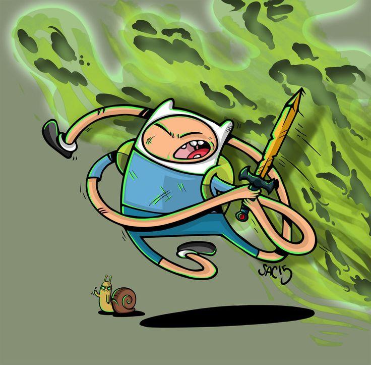 Finn Adventure Time Yell fo War by SacEnemies.deviantart.com on @DeviantArt