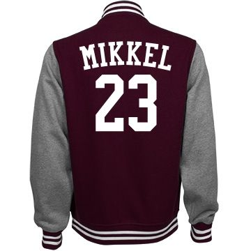 Custom Letterman jacket | Customized by adding name and number.