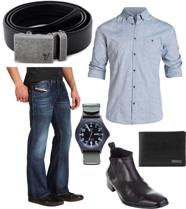 """""""The Iron Belt with Blue and Black"""" by kristinmadsen on Polyvore"""