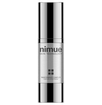 Maintenance Complex. Multi functional treatment offers rejuvenation, antioxidation and skin lightening in one. A booster treatment based on a unique complex of Retinol, Emblica, Idebenone, Salicylic acid and a synergistic pigment inhibitor complex to enhance and maintain results, ideal for use after Nimue Chemibrasion and Microneedling treatments. 30ml. Nimue Skin Technology.