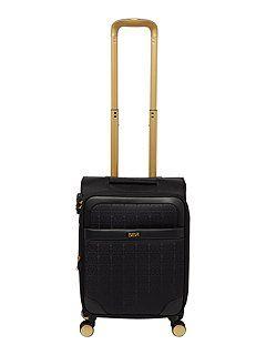 Opulence jacquard 8 wheel soft cabin suitcase