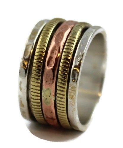 El Spinning Ring (silver/brass/copper)