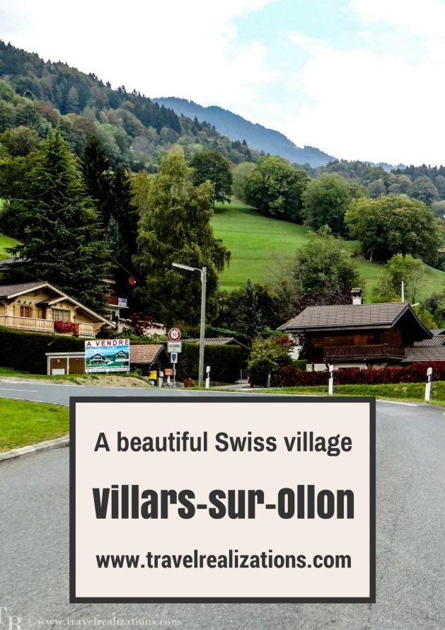 It was a sun kissed,Sunday morning. We decided to get drenched in the Sun.We started early in the morning for Villars-Sur-Ollon - A beautiful Swiss village.