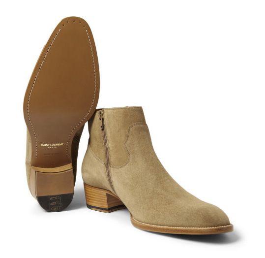 Saint Laurent Paris suede boots, mens