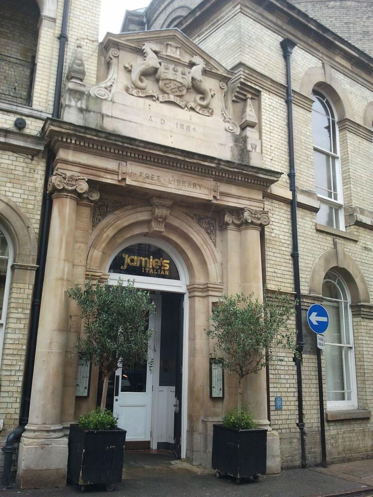 Jamie's Italian entrance in Cambridge