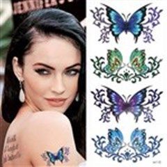 Personalized Waterproof Temporary Tattoo Body Art Sticker for Decorative Use - Colorful Butterfly Pattern