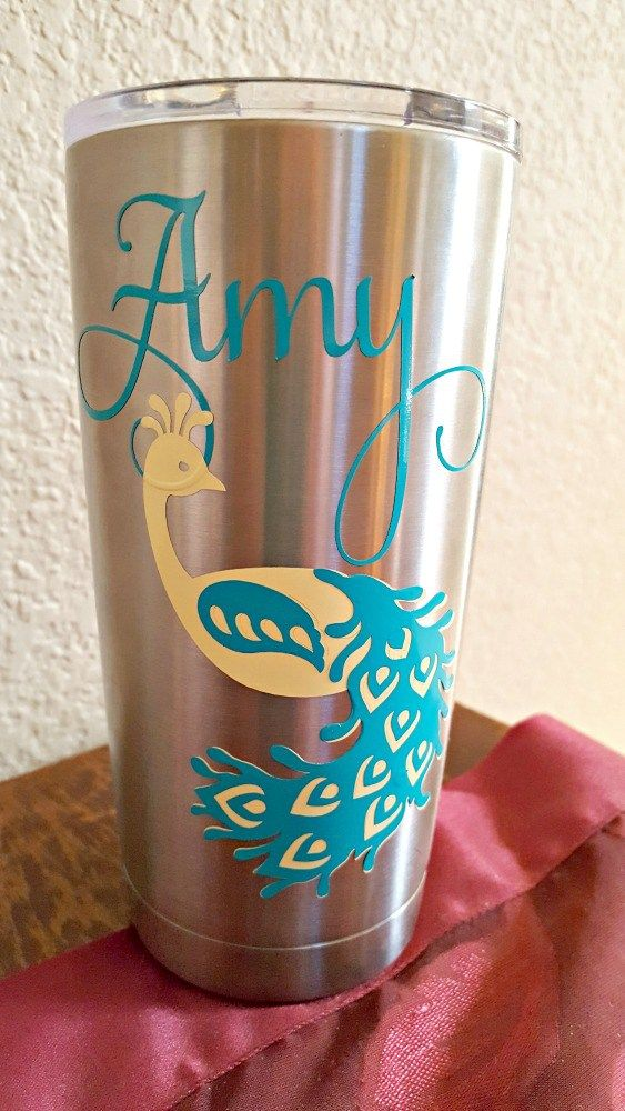Step by step tutorial on applying vinyl to a tumbler. Ozark and Yeti tumblers are very popular right now and they are so easy to decorate!