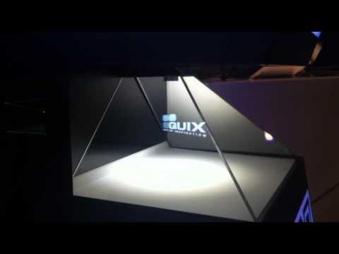 Holografická projekce na konferenci